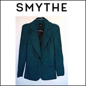 Smythe blazer jacket with strong shoulder